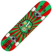 Lucha Libre 7.25inch Complete Mini Skateboard - Red/Green