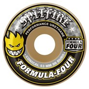 Formula Four Conical 99DU Natural 54MM Skateboard Wheels - Yellow Print