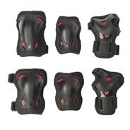 Skate Gear Jnr 3 Pack - Black/Red