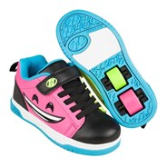Dual Up Black/Hot Pink/Cyan/Multi Kids Heely X2 Shoe