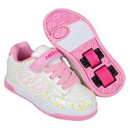 Plus White/Light Pink/Multi Logo Kids Heely X2 Shoe