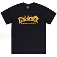 Fire Logo S/S T-Shirt - Black