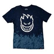 Bighead Outline Fill S/S T-Shirt - Navy/Blue Wash/White