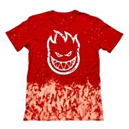 Bighead Outline Fill S/S T-Shirt - Red Wash/White