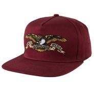 Eagle Snapback Cap - Dark Red
