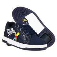 Heelys X Simpsons Split Navy Kids Heely Shoe
