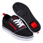 Pro 20 Black/White/Red Kids Heely Shoe