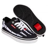 Pro 20 Prints Black/Red/White Skeleton Flames Kids Heely Shoe
