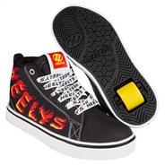 Racer Mid 20 Black/White/Red/Yellow FlameKids Heely Shoe