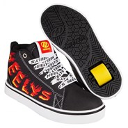 Racer Mid 20 Black/White/Red/Yellow Flame Kids Heely Shoe
