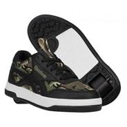 Heelys X Reebok Black/Capulet Olive/Safari CL Court Low Kids Heely Shoe