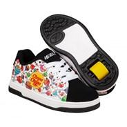 Split Chupa Chups White/Black/Multi Kids Heely Shoe