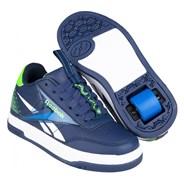 Heelys X Reebok Court Low Vector Navy/Blue/Solar Green/White Kids Heely Shoe