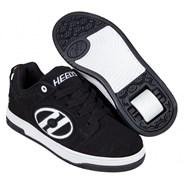Voyager Black/White Nubuck Kids Heely Shoe