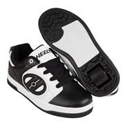Voyager Black/White Kids Heely Shoe