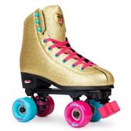 BUMP Rollerdisco Gold Quad Roller Skates