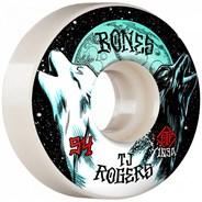 Rogers Howl STF 103A V3 Slims 54mm White Skateboard Wheels