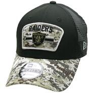 NFL On Field 2021 Salute To Service 940 Trucker - Las Vegas Raiders