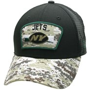NFL On Field 2021 Salute To Service 940 Trucker - New York Jets