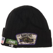 NFL On Field 2021 Salute To Service Cuff Knit Beanie - Baltimore Ravens
