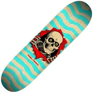 Peralta Ripper #242 8inch Skateboard Deck - Natural/Turquoise