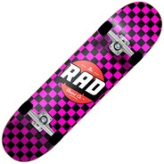 Checkers Dude Crew 7.75inch  Complete Skateboard - Black/Pink