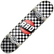 Checkers Dude Crew 8inch Complete Skateboard - Black/White