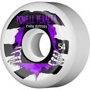Park Ripper PF 54mm Skateboard Wheels - White/Purple