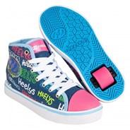 Veloz Blue/Denim/Multi Logo Kids Heely Shoe