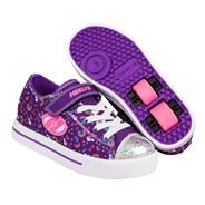 Snazzy Purple/Multi Rainbow Kids Heely X2 Shoe