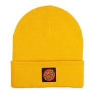 Classic Label Dot Beanie - Mustard