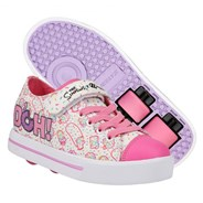 Snazzy Simpsons White/Pink/Lavender Kids Heely X2 Shoe