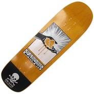 Zarosh Heart Hand Screened Pool Skateboard Deck - Yellow