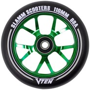 V-Ten II 110mm Alloy Core Scooter Wheel and Bearings - Green