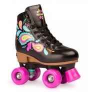 Carnival Black Adjustable Kids Artistic Quad Roller Skates