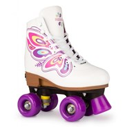Butterfly White Adjustable Kids Artistic Quad Roller Skates