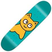 Big Cat Teal 7.5inch Skateboard Deck