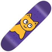 Big Cat Purple 7.75inch Skateboard Deck