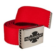 Clipped Web Belt - Cardinal Red