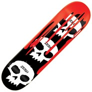 3 Skull with Blood 8inch Skateboard Deck