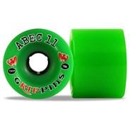 Classic Grippins 70mm Longboard Wheels - Green