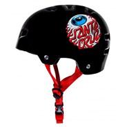 T35 Bullet x Santa Cruz Eyeball Youth Skate/BMX Helmet - Black
