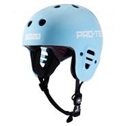 Sky Brown Full Cut Certified Skate Helmet - Blue