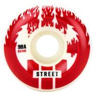 CIB Street 55mm White/Red Aggressive Quad Roller Skate Wheels