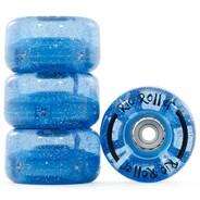 Light Up Quad Roller Skate Wheels - Blue Glitter