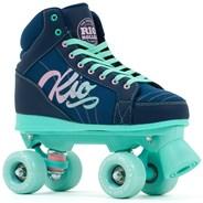 Lumina Quad Roller Skates - Navy/Green