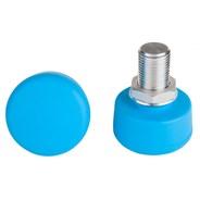 Adjustable Round Toe Stops - Light Blue