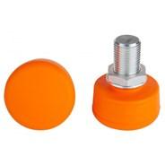 Adjustable Round Toe Stops - Orange