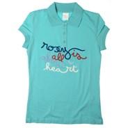 Cornelie Beach Scene S/S Polo Shirt - Pacific Blue