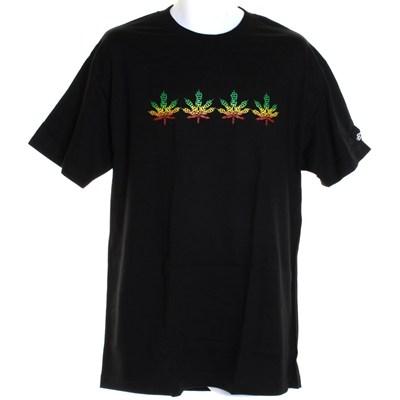 Rasta Leaf S/S T-Shirt - Black